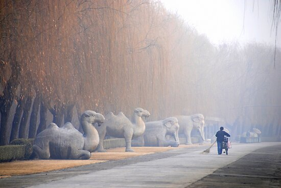 Chang Ping -  - Main sacred way to the Ming tombs. by Jean-Luc Rollier