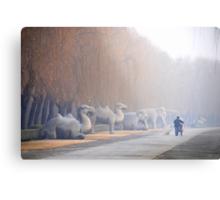 Chang Ping - 明十三陵 - Main sacred way to the Ming tombs. Metal Print