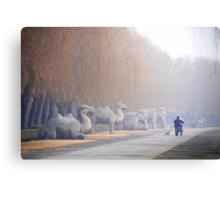 Chang Ping - 明十三陵 - Main sacred way to the Ming tombs. Canvas Print