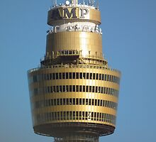 Sydneys Centrepoint Tower from the Harbour Bridge! by Bernie Stronner