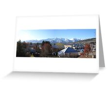 Fernie Alpine Resort from town, BC, Canada Greeting Card