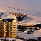 Panorama version of Hotham Village at dawn by Charles Kosina
