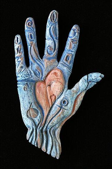 Hand Heart by Mona Shiber