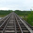 Railway Tracks ,Bridgeing The Gap  by MaeBelle