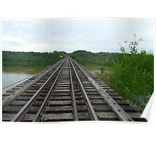 Railway Tracks ,Bridgeing The Gap  Poster