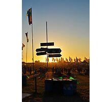 Lost at the Glastonbury Festival Photographic Print