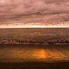 Sunset at Padang Beach, West Sumatra by Ashlee Betteridge