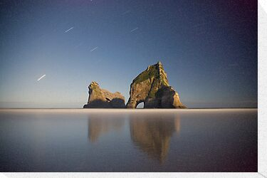 Wharariki beach at night by Paul Mercer