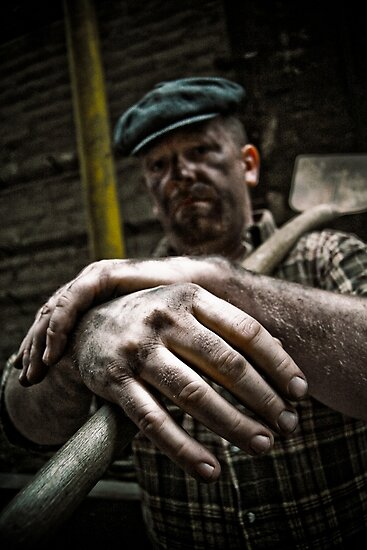 Coal Worker or Story telling hands by Jean M. Laffitau