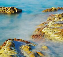 Sea Rocks and Sun by Patrick Morand