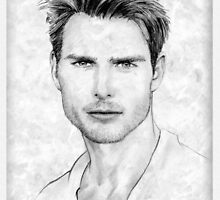 Tom Cruise portrait by wu-wei