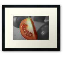 Tomato Wedge Framed Print
