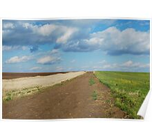 Of Wheat and Sky in Kansas Poster