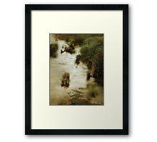 Flood Tide in the Salt Marsh Framed Print