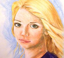Portrait of a Blonde girl by Picatso