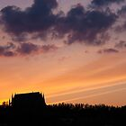 Lancing College at sunset by Kevin  Poulton