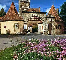 Rothenburg  - Rödertor  by David J Dionne