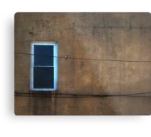one window one wire one bird  Metal Print