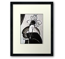 """*Ritzy"" Roaring Twenties Lady with cloche Framed Print"