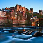 Spring Dusk In Durham City, UK - The Riverside. by David Lewins LRPS