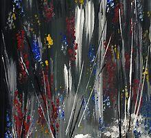 Forest of July 4th fireworks by Ginger Lovellette