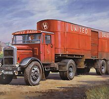 Scammell van United Dairies. by Mike Jeffries