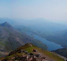 Snowdon Summit Panorama by Mark Wilson