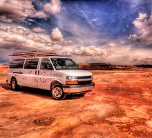 Stop at  Dinosaur Tracks, Arizona by LudaNayvelt