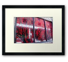 Branches in Windows Framed Print