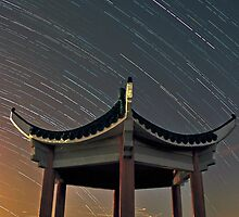 Star Trails - Sha Po Kong Pagoda by HKart