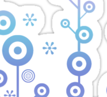 60s Flowers - Blue Sticker