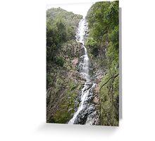 Wending Watery Way-down at Montezuma Falls Greeting Card