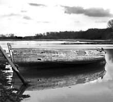 Boat on the Deben, Suffolk by Kerina Strevens
