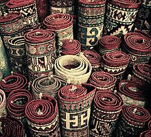 Carpet Shop - Deira Souk, Saudi Arabia by Karen Field