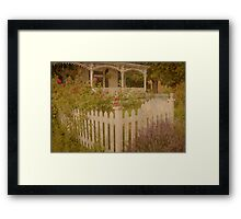 House with the white picket fence # 2 Framed Print