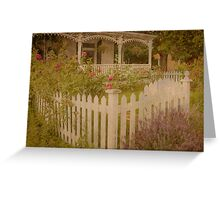 House with the white picket fence # 2 Greeting Card