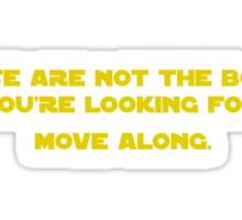 Boob Trick - Yellow Ink Sticker