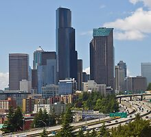 Downtown Seattle from Jose Rizal Bridge by Barb White