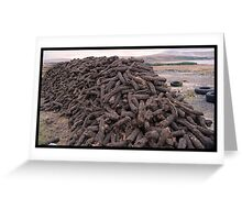 Hand-Cut Peat Fuel - Donegal Greeting Card