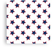 american flag stars background Canvas Print