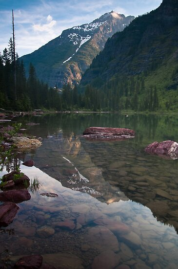 Avalanche Lake, Montana by Albert Dickson