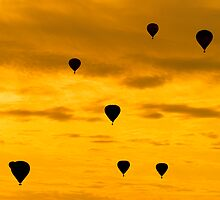 Balloon Sunset by Dominic Perry