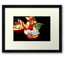 Fruity and Cheesy Framed Print