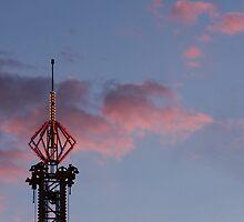 Sunset, Lights On at Coney Island by ElyseFradkin