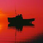 Cape Islander fishing boat at sunrise by Harv Churchill