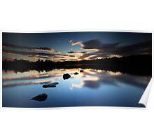 Sunset Clunie Loch Poster