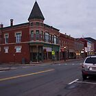 Downtown Yarmouth, Nova Scotia by Harv Churchill