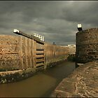 Mighty Gates -  Bude Canal by availablelight