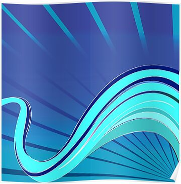 Blue waves vector by Laschon Robert Paul