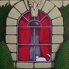 Alabaster Gothic Window Garden  by Donna Huntriss